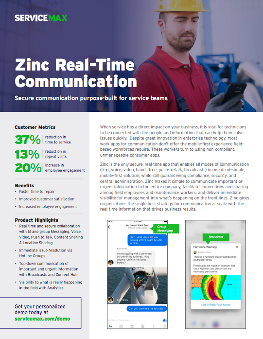 Download: Zinc Real Time Communication Datasheet