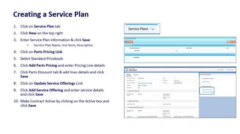 Create a Service Plan