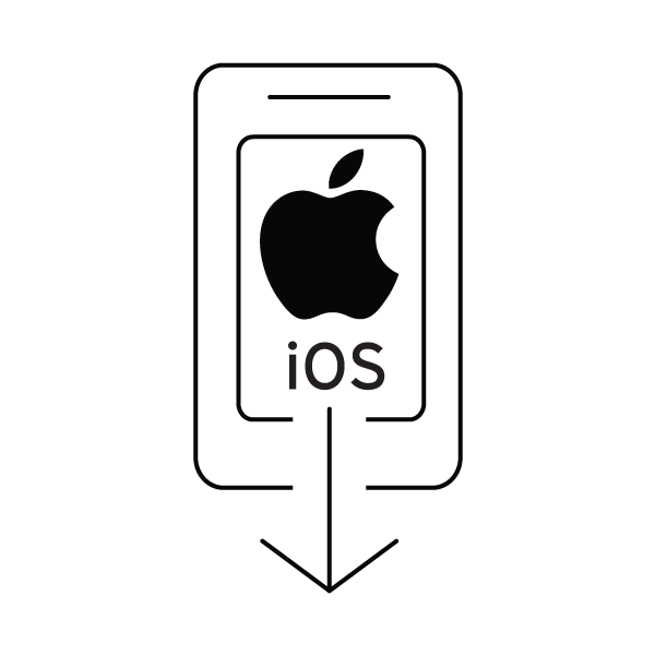 iOS download icon