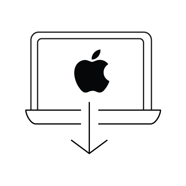 Mac download icon