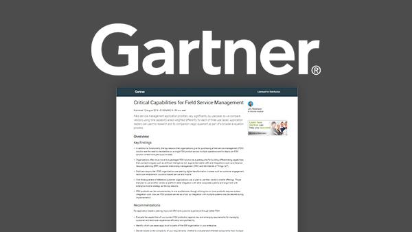Gartner Critical Capabilities for Field Service Management Report