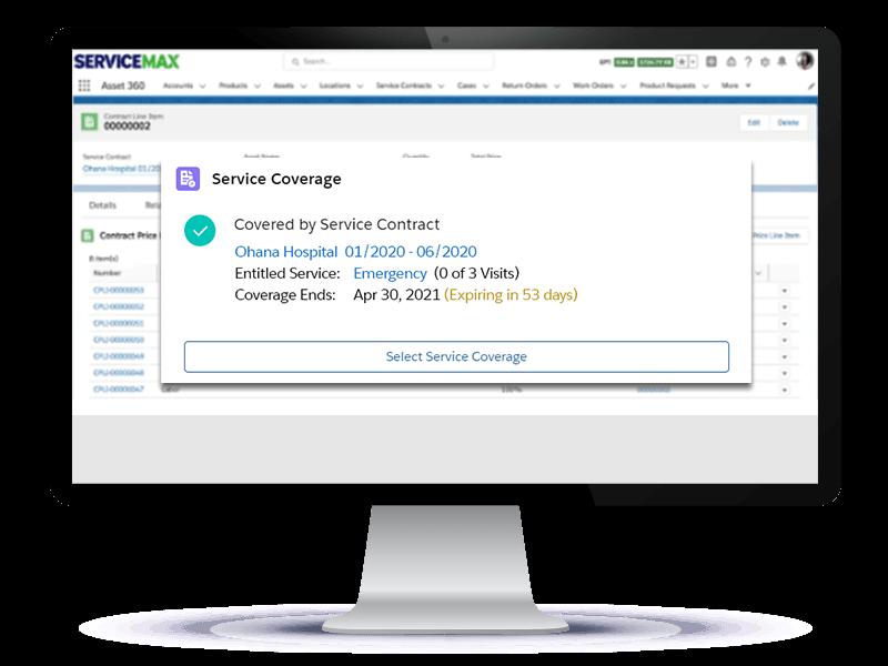 Product screenshot on a desktop monitor: Entitlements