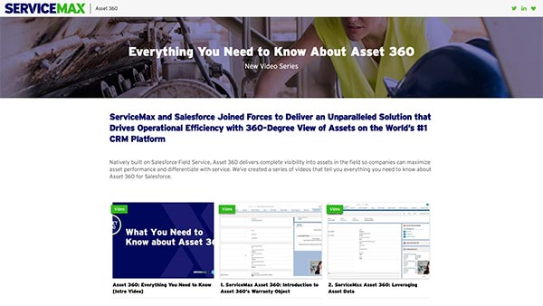 ServiceMax Asset 360 for Salesforce Video Series