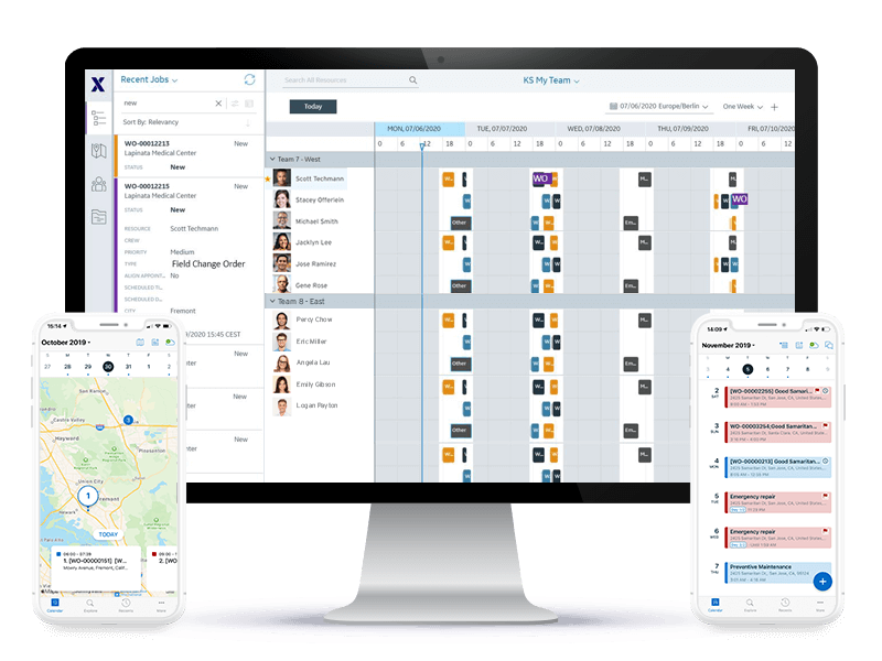 Crew management with Service Board and ServiceMax Go