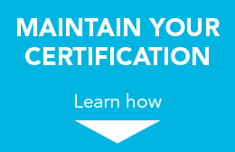 Maintain Your Certification